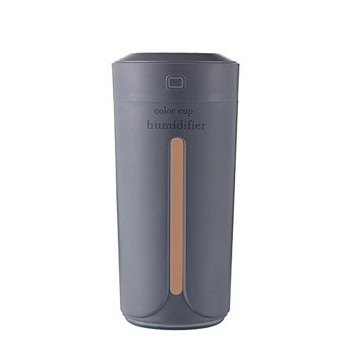 Aroma Difusor,STRIR 230ml Humectador Ultrasónico de Aromaterapia / Humidificador de Niebla Fresca con 7 colores de LED, apagado automático para el hogar / la oficina / el coche (Gris)