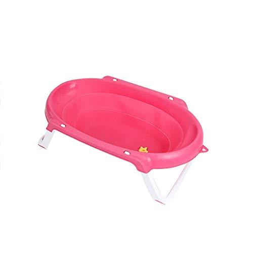 LXYFC Bathtub Folded, Bäder für Haus tragbare Falten tragbare Silica Wanne, Badewanne im Freien Reisen (Farbe: Rosa, Größe: 82 * 46 * 24,3 cm) -Pink, 82 * 46 * 24,3 cm