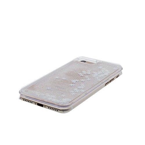 iPhone 6 Plus Custodia, Copertura iPhone 6s Plus, [ Liquido che scorre nuoto divertente Sparkle Bling trasparente protezione completa anti-gra] [ porpora ] Cover iPhone 6S Plus Case penna di tocco # # 4