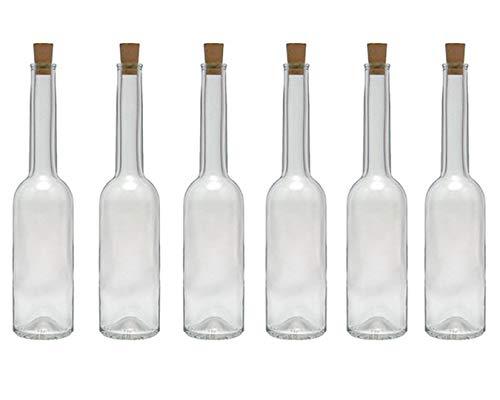 hocz  Juego de Botellas de Cristal tapón de Corcho, 6/10 Piezas, Capacidad de 100 ml, 6er Set