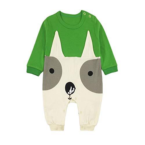Anywow Weihnachten Säugling Baby Mädchen Jungen Strampler Langarm Overall Rentier Cartoon Onesies Bodys Einteiler 0-12 Monate