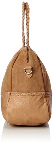 PIECES - Pccameo Leather Bag, Borse a spalla Donna Marrone (Nature)