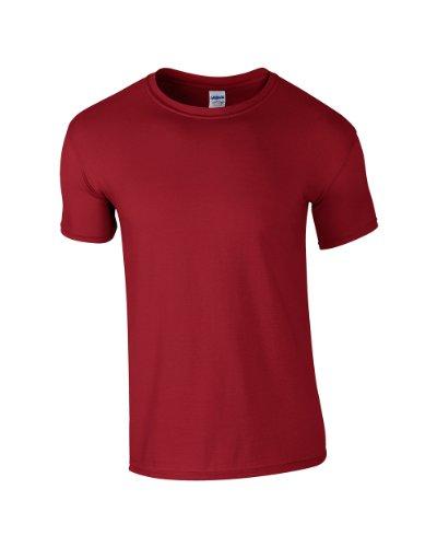 GILDANHerren T-Shirt, Rouge - Cardinal Red, M (Red T-shirt Kinder-cardinal)