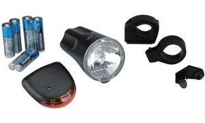 PROFEX Fahrrad Beleuchtungs-LED-Set 10-Lux, legte Batterien