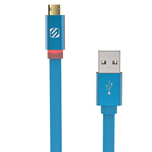 Scosche ezflbl USB-Kabel-USB Kabel (USB A, Micro USB B, Stecker/Stecker, gerade, gerade, blau) Scosche Usb