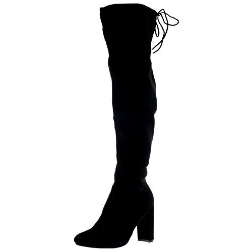 Womens Block Heel Stretch Long Over The Knee Riding Wide Fit High...