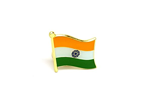 National Country Flag INDIA Enamel Pin Badge Brooch | High Quality Metal Enamel Pin Badge Lapel Brooch Novelty Collectable Gift Jewellery for Clothes Shirt Jackets Coats Tie Hats Caps Bags Backpacks