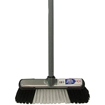 Red 24 600mm Hygiene Colour Coded Sweeping Brush and Aluminium Screw Fit Handle