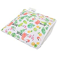 Itzy Ritzy Snack Happens Reusable Snack and Everything Bag, Flamingo Flock