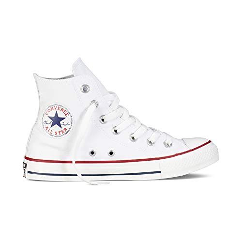 Hi Schuhe Turnschuhe (Converse Chuck Taylor All Star High Classic CTAS Hi Damen Herren Unisex Turnschuhe Canvas Sneaker Sportschuhe mit 7kmh Aufkleber Weiß 41,5)