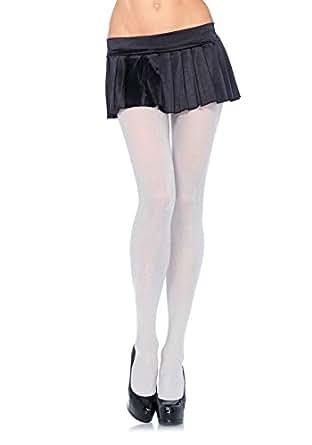 Leg Avenue Collant Opaque En Lurex Pailleté Argent Taille Unique