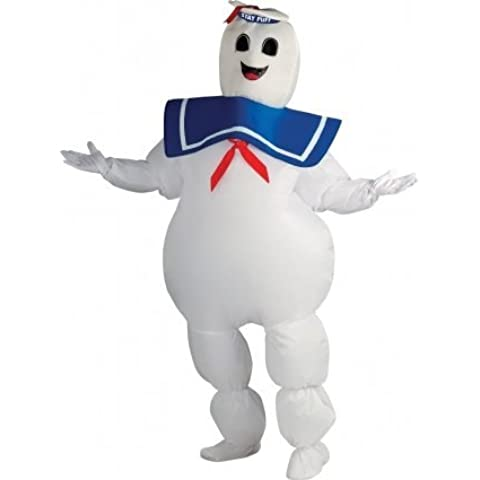 Mens Halloween Stay Puff Ghostbusters Inflatable 1980s Halloween Fancy Dress Costume Outfit by Rubies Costume