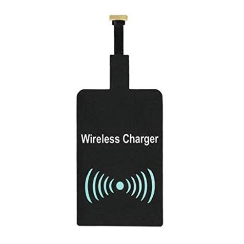 Caricabatterie Wireless Kit, batteria universale wireless Qi ricarica Ricevitore Card per Smartphone con connettore microUSB