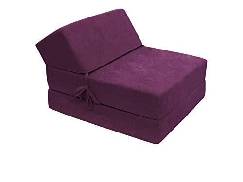 Sofa Kevin mit Schlaffunktion, Schlafsofa, Bettsessel, Klappmatratze, Faltmatratze, Gästebett, Schlafcouch, Kinderzimmer (Mikrofaza 0023)