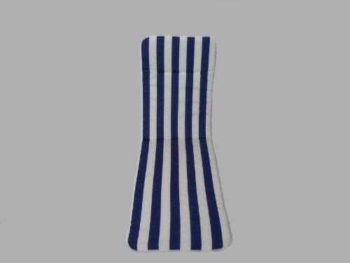 Maffei Art 541 coussin coton bain de soleil cm.190x57x3. Made in Italy. Dessin rayé blanc/bleu