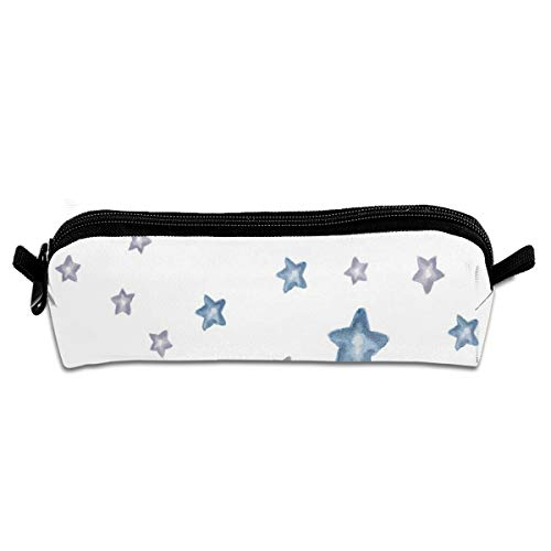 Baby Elephant Mix Match Stars Pencil Pouch Bag Stationery Pen Case Makeup Box with Zipper Closure 21 X 5.5 X 5 cm