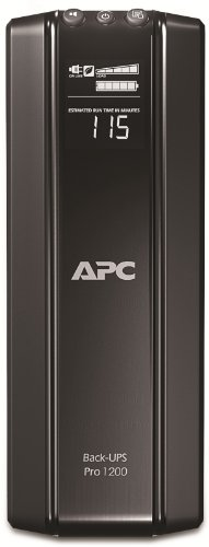 APC Back UPS PRO USV 1200VA - BR1200G-GR - inkl. 150.000 Euro Geräteschutzversicherung (6-Schuko, Stromsparfunktion, Multifunktionsdisplay) (Backup-power - Ups)