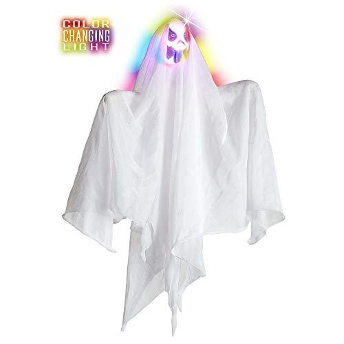 Widmann 7785G Gespenst mit Lichteffekt, Weiß, 50 cm