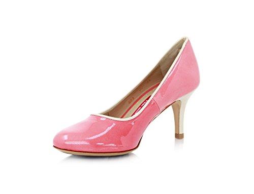 Diamond Heels Pumps Stiletto 5cm Lachs Lackleder (35)