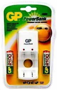 GP Batteries Standard Series PowerBank S390 Weiß - Ladegeräte (2,8 V, AA/AAA, 2100 mAh, 1,2 V, 0 - 40 °C, -20 - 35 °C)