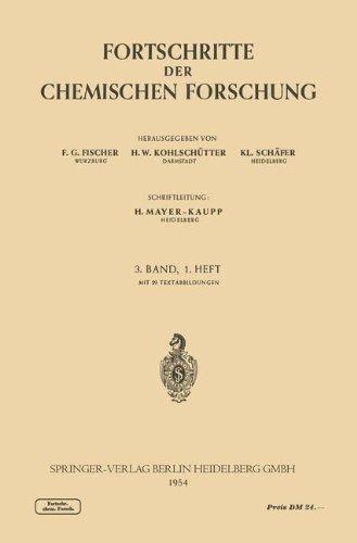 Fortschritte der Chemischen Forschung (Topics in Current Chemistry) (German and English Edition) by F. G. Fischer (1954-06-30)