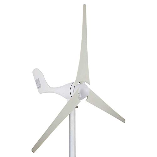 FlowerW 100 Watt 12 V Wind Turbine Generator 3 Klingen Kit MPPT Laderegler Horizontale Windkraftanlage Generator Power Supplementation (100 Watt 12 V) (100 Watt 12 V)