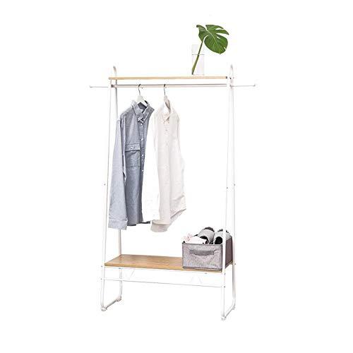 ZX-garderobenständer Garderobe Aus Holz Schwer Metall Aufhänger Kleidung Aufhänger Regal Schuhregal Ward Aufbewahrungsbox (Color : White, Size : 80X40X160 cm) (Wand Montiert Heavy-duty-garderobe)