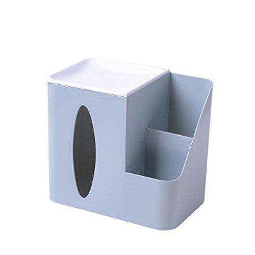kingko Kosmetische Halter Organizer Desktop Schublade Kosmetische Aufbewahrungsbox Kreative Addition Tissue Box Funktion Kosmetiktücher-Box Tissue Box (19x12.2x17.5cm / 7.5x4.8x6.9in) (B)