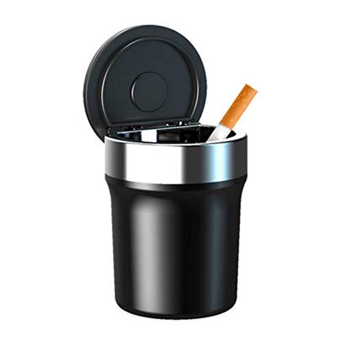 NBZLY Edelstahl-Aschenbecher mit beleuchtetem Aschenbecher, langlebig, große Kapazität, Rauchen im Innen- oder Außenbereich, ideal für Auto, Zuhause, Büro, Reisen.