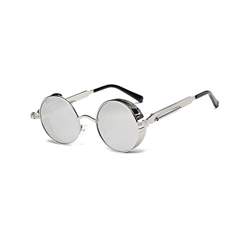 Sportbrillen, Angeln Golfbrille,Metal Round Steampunk Sunglasses Men Women Fashion Glasses Brand Designer Retro Frame Vintage Sunglasses High Quality UV400 10