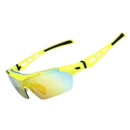 OBAOLAY Sports Sonnenbrille Polarisierte Anti-UV-Radbrille mit 5 Wechselobjektive