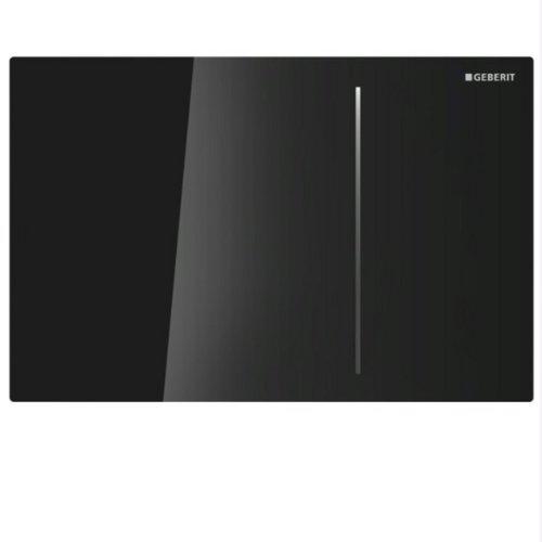 Geberit, Piastra di azionamento per cassette di risciacquo ad incasso Sigma 70 115.620.SJ.1 per, doppio scarico, nero, 115620SJ1