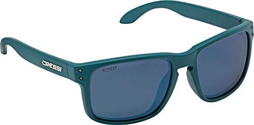 Cressi Unisex-Erwachsene Blaze Sport Sunglasses Polarised Hydrophobic Lenses with Hard Case, Öl/Linsen Verspiegelte, One Size