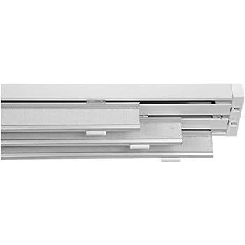 Bastone Tende A Pannello.Bastone Binario In Alluminio Bianco Per Tende A 3 Pannelli 180