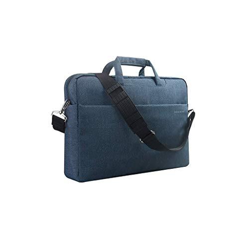 Laptoptasche for Frauen, Schlanke, Leichte Business-Aktentasche, Tragetasche for Tragbaren Computer Mit Griff (Color : Blue, Size : 14inch) -
