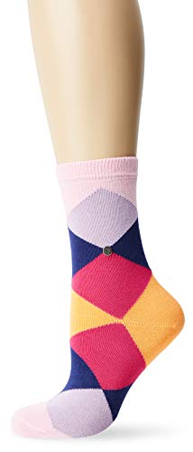 Burlington Damen Socken Damensocken Baumwolle Bonnie, Blickdicht, Mehrfarbig (Marshmellow 8448), 36/41 (One Size)
