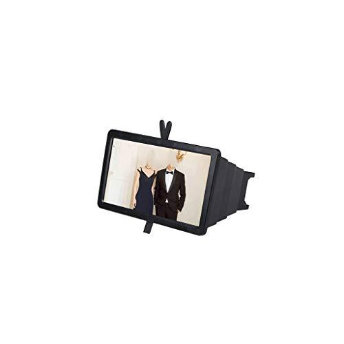 MAGF Handy-Bildschirm Lupe 14-Zoll-Lupe zum Lesen Fernsehen Rechteck großen Spiegel einstellbar faltbar weiß schwarz Lupe (Color : Black)