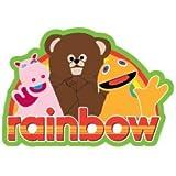 Rainbow Keyring. Logo and Cast Enamel Keyring