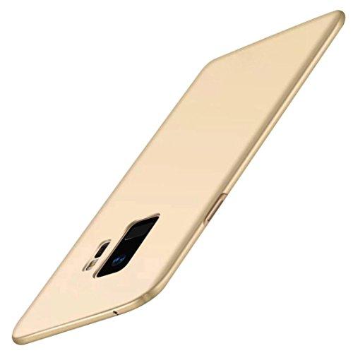 Prevently Telefonkasten Beschichtung Injektion PC Hard Shell Ultra-dünne Luxus Hard PC Schutzhülle für Samsung Galaxy S9 Plus 6,2 Zoll (Gold1) (Injektion Plus)