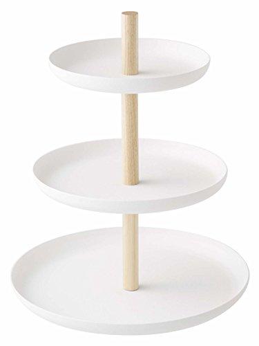 Yamazaki présentoir à gâteaux à 3 étages blanc