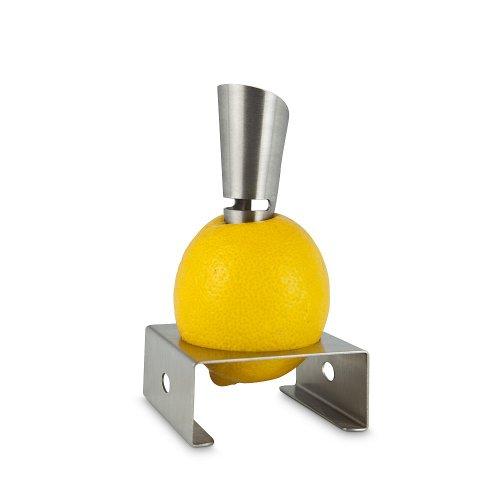 """Zitronenpresse """"Artist"""" – Formvollendete Zitronenpresse, frischer Saft direkt aus der Zitrone geträufelt (Edelstahl – seidenmatt gebürstet) - 2"""