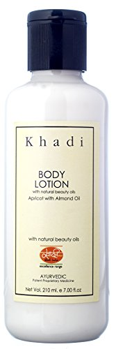 KHADI Body Lotion – 210 ml – Rich Essential Oils for Skin Nourishment – Enriched with Apricot & Almond Oil