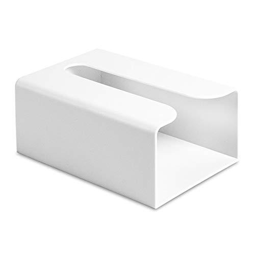 Yililay PU de la Caja del Tejido del Cuero del sostenedor del Tejido Blanco Rectangular del Enrejado para la decoración de Automoción del Ministerio 25 * 14 * 9 cm / 9,8 * 5,5 * 3,5 Pulgadas