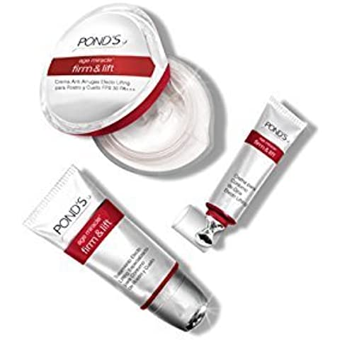 Ponds Age Miracle Firm & Lift Eye Contour, SPF 30 Day Cream & Serum Massager Combo with Free Ayur