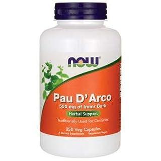 Now Foods PAU D'Arco, 500mg, 250 Vegetarian Capsule