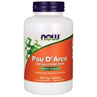Pau D' Arco, 500 mg, 250 Capsules - Now Foods - Qty 1