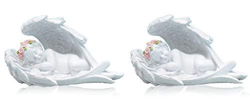 Piquaboo set di 2angioletti dormire in ali ornamenti