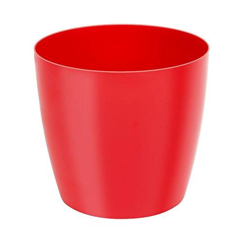Classique luisant cache-pot LOBELIA, 25 cm, en rouge