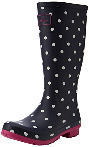 Tom Joule Joules Damen Roll Up Welly Gummistiefel Blau (Navy Spot Navspot) 40/41 EU
