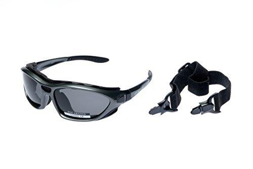 Alpland Polarized Glas - Schutzbrille Sportbrille Sonnenbrille für Wassersport,Kitesurfen